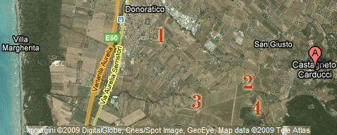 Enrico Santini (google) map of the estate